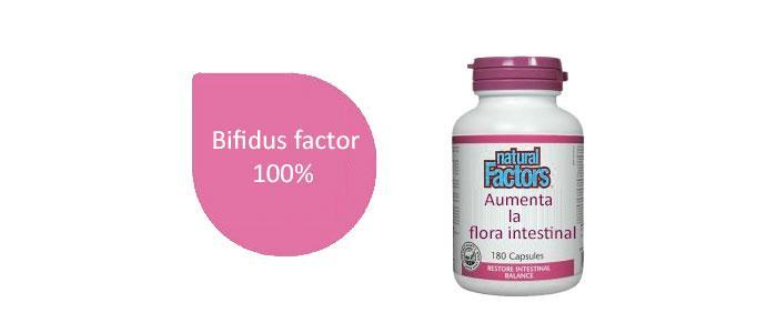 Bifidus factor para mejorar la flora intestinal
