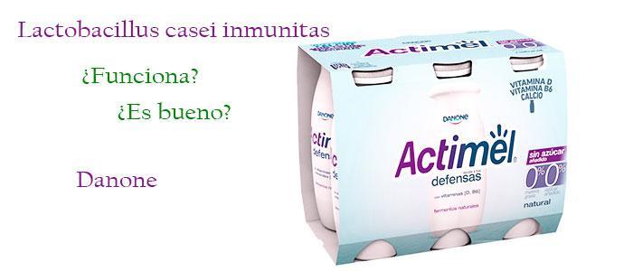 Lactobacillus casei inmunitas en Actimel de Danone